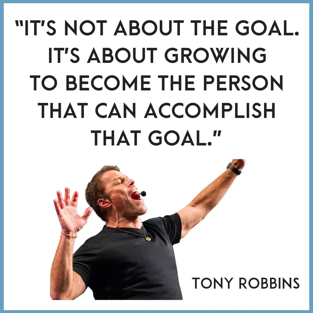Tony Robbins quotes about goals