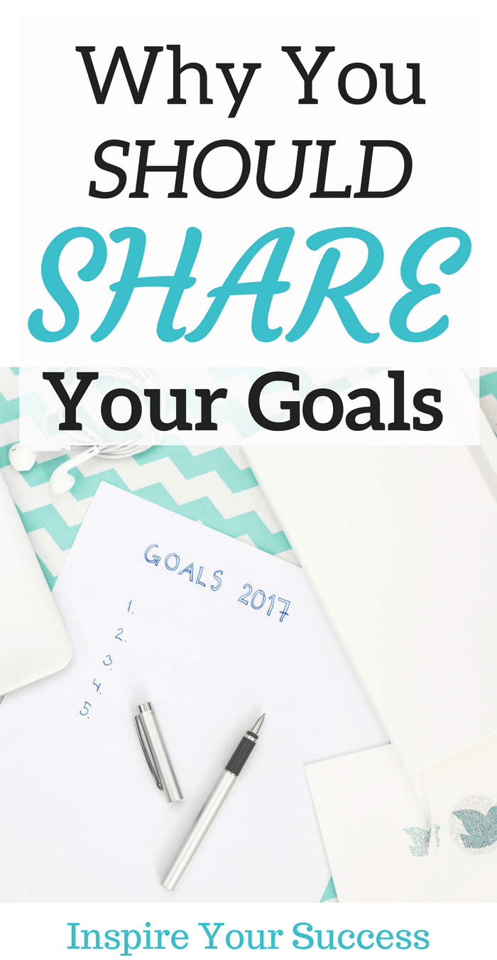 Why You Should Share Your Goals With the World! Set big goals! Create goals that will make you become someone new, someone better. Learn why you should share your goals here.