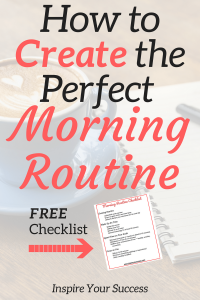 This helped me get my morning routine dialed in! I am so much more productive and efficient with my time. Make sure to print the morning routine checklist so you see it every morning!