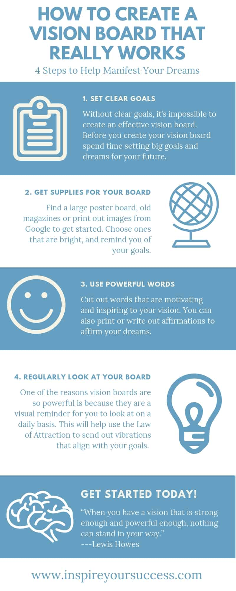 How to create a vision board that really works! #loa #lawofattraction #manifest #dreams #bigdreams