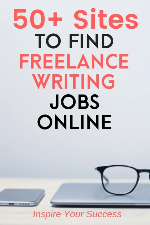 I use these 50+ freelance writing jobs to make money online each month! Learn how to become a freelance writer and get paid gigs with this epic post. #freelancewriting #makemoneyonline #writinggigs #writer #freelance
