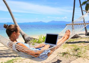 Make Money Writing Articles - Writer on Beach