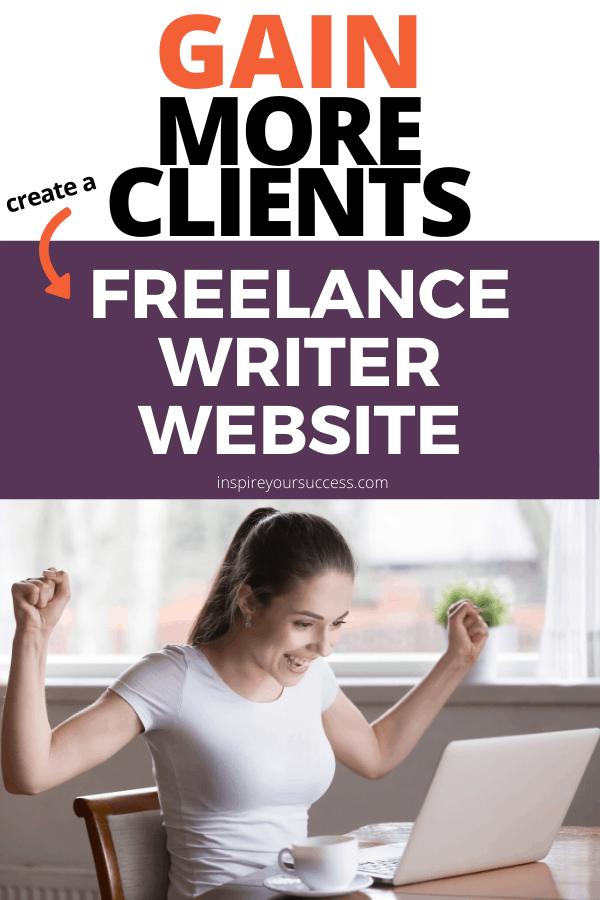 create a freelance writer website