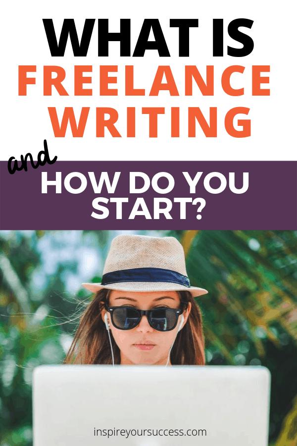 Freelance writer with laptop