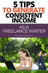 how to generate income as a writer