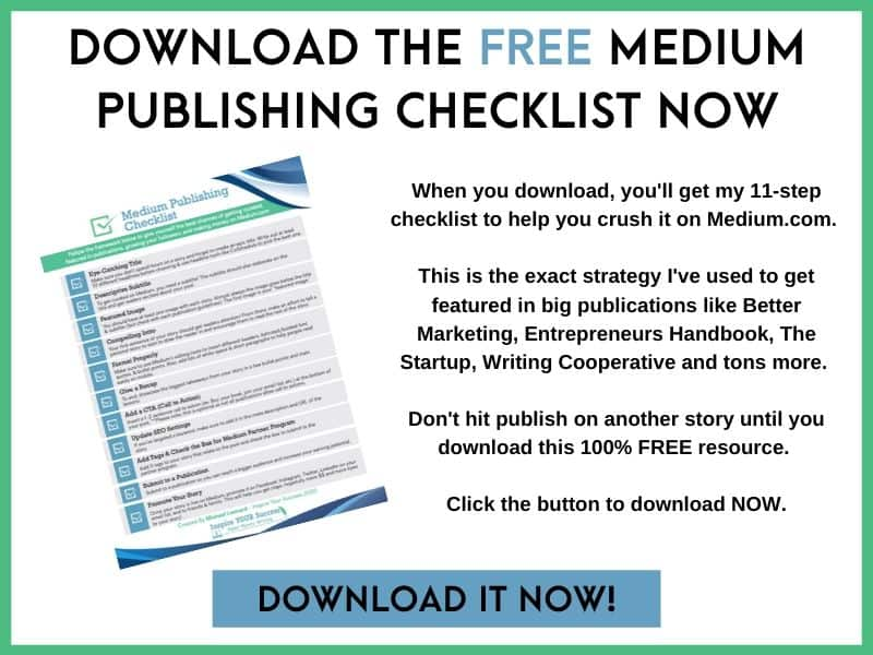 Medium Publishing Checklist Image